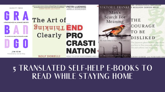 5 Translated Self-Help E-Books to Read While Staying Home