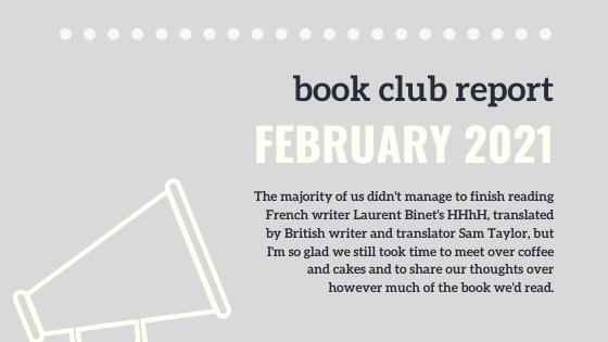 Book Club Report (February 2021)